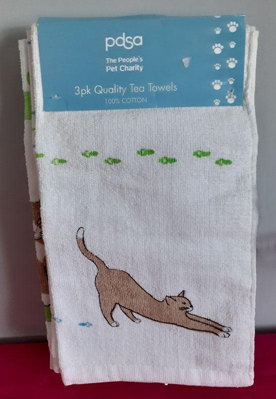 Cat Print Tea Towels