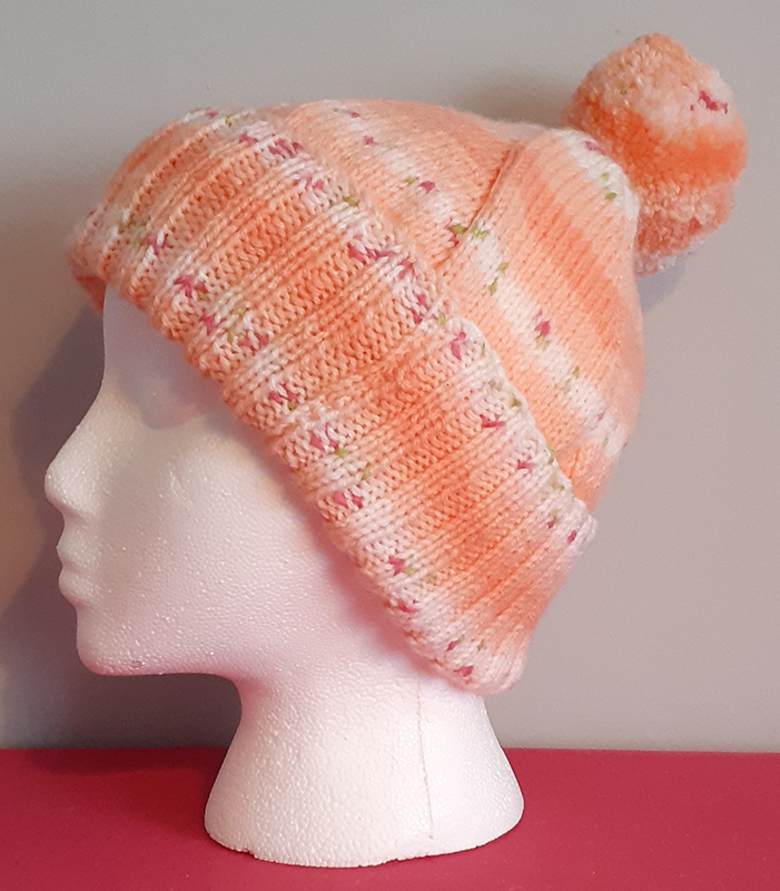 Patterned Handknitted Bobble Hat
