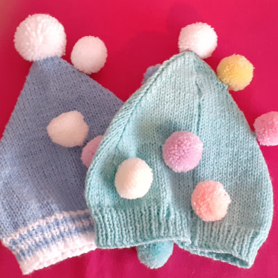 Kids Pom Pom Knitted Hats