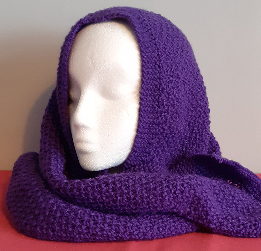 Purple Handknitted Scarg
