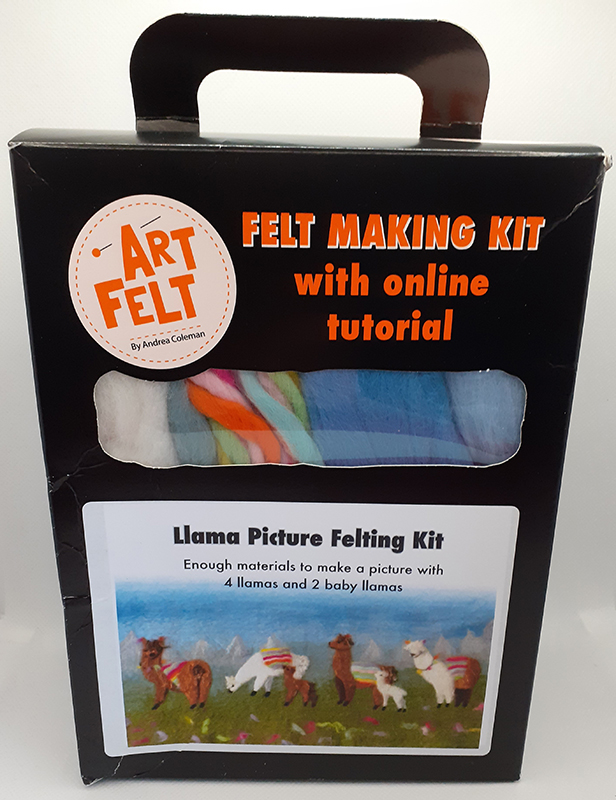 Art Felt Llama Picture Felting Kit
