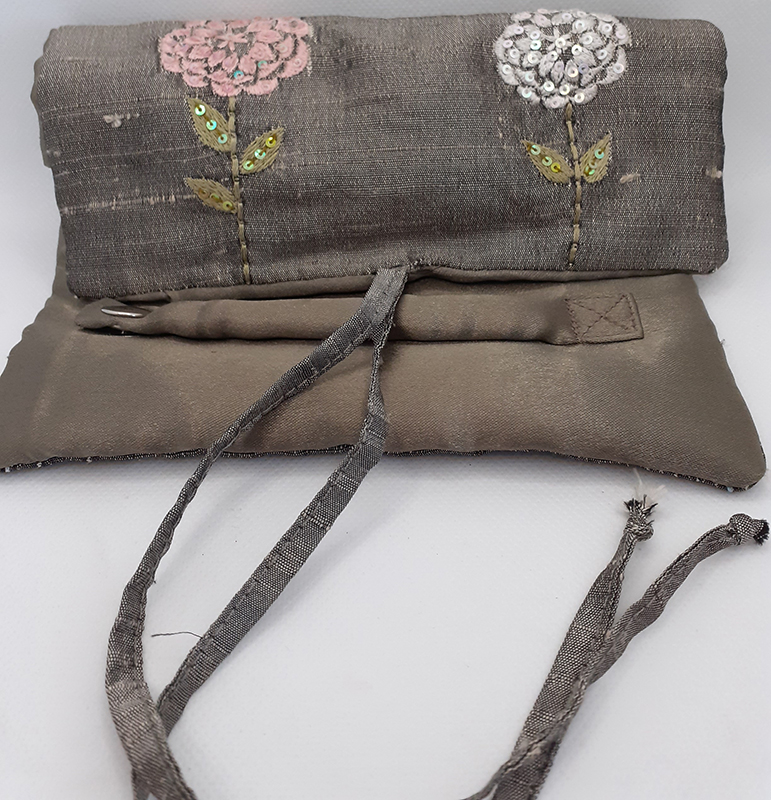 Embroidered Silk Jewellery Purse