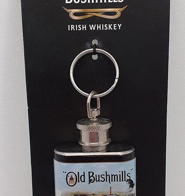 Old Bishmills Hip Flask Keyring