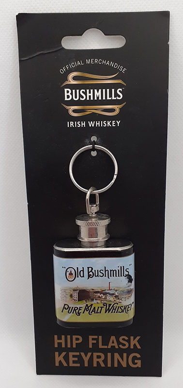 Old Bishmills Hip Flask Keyring