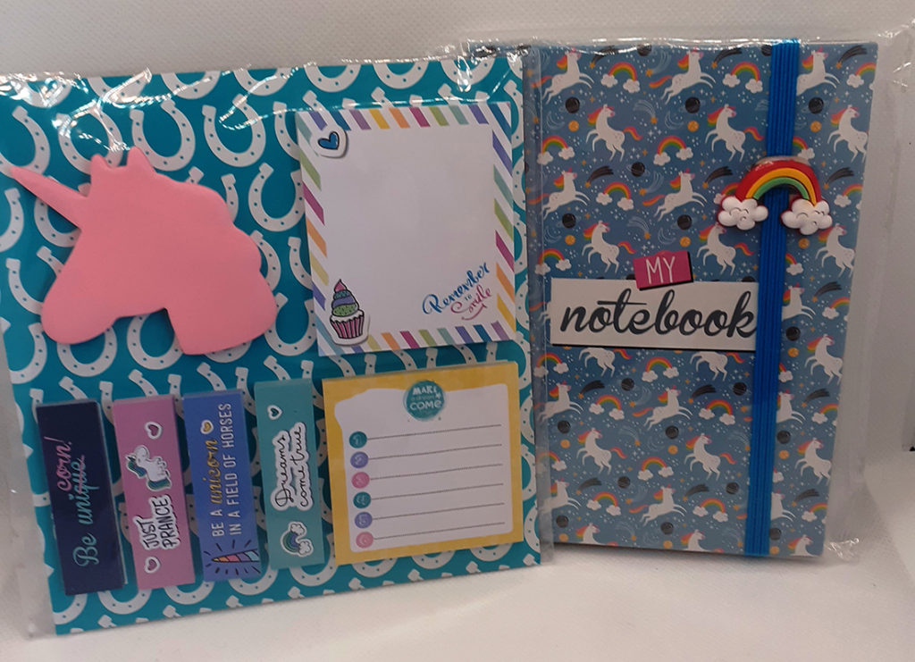 Unicorn Sticky Labels & Notebook