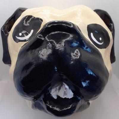 Pug Head Toilet Roll Holder