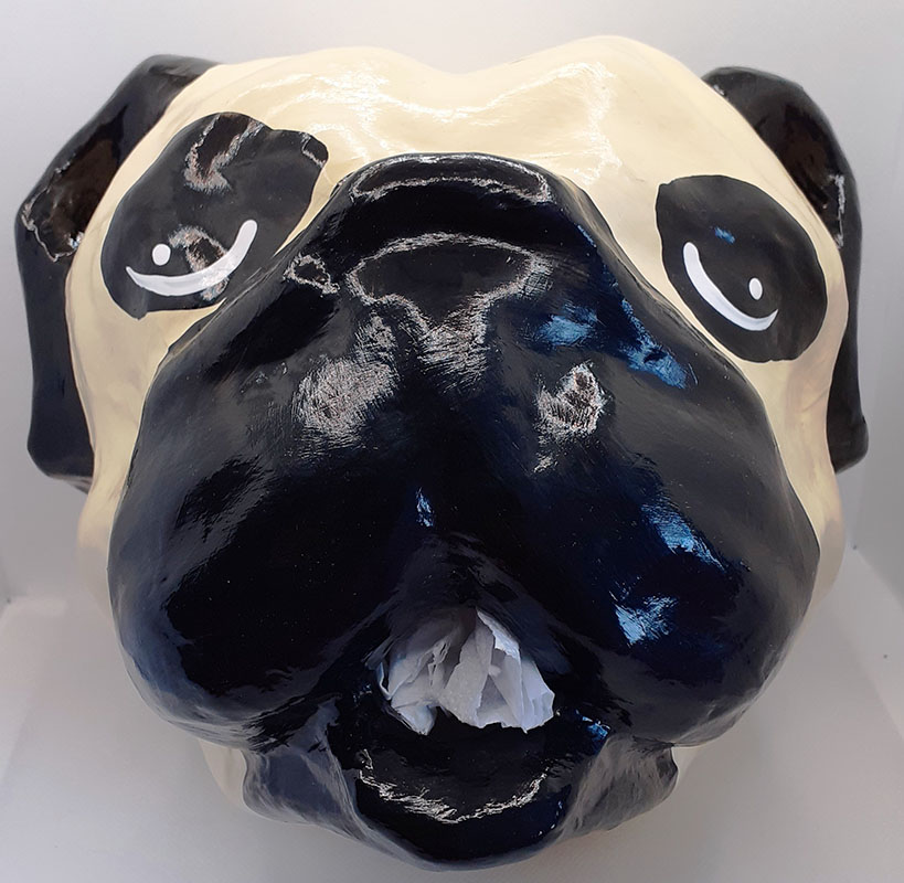 Pug Head Toilet Roll Holder