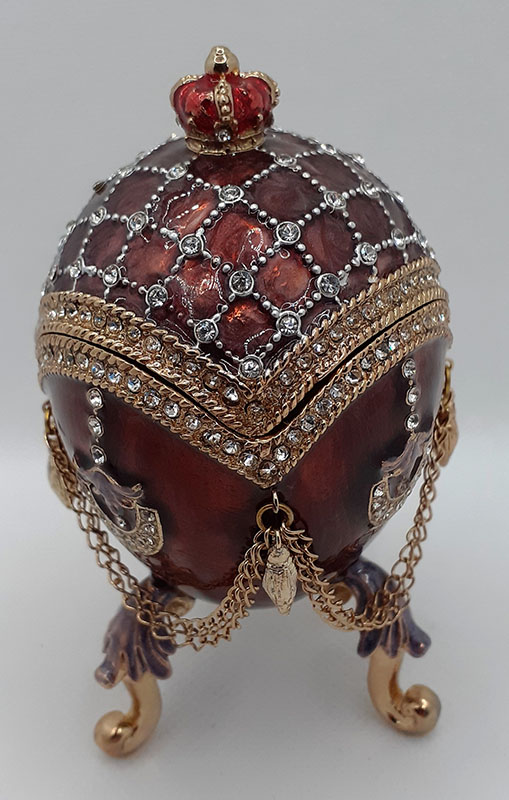 Enamelled Egg Trinket Box
