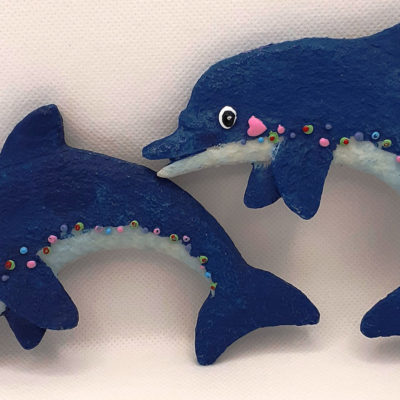 Lovely Wall Mounted Dolphins