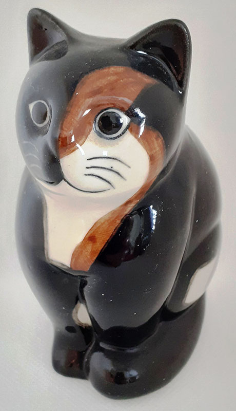 Quail Small Ceramic Cat
