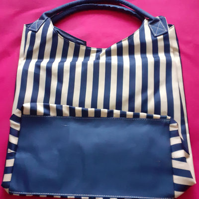 Large Striped Holdall