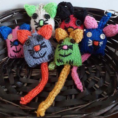 Knitty Kitty Keyring