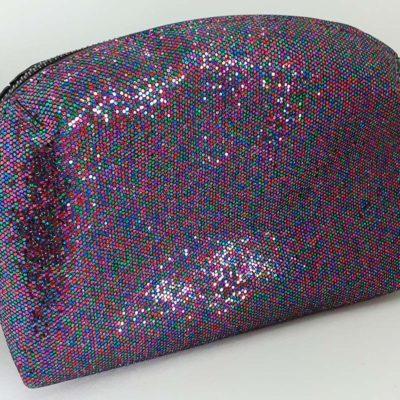 Onyx Glitter Cosmetic Bag