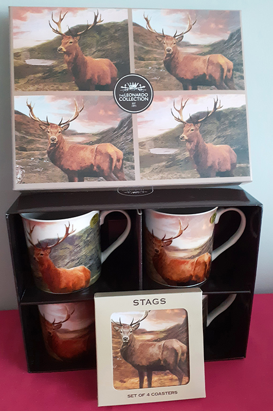 Beautiful Set of Mugs & Coasters