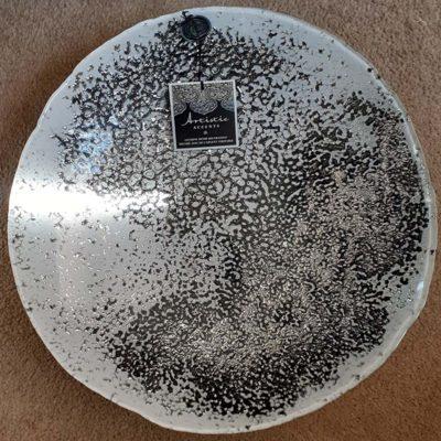 Handmade Glass & Silver Platter