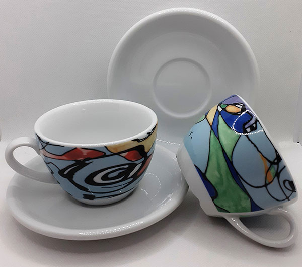 Set of Two Cappuccino Cups
