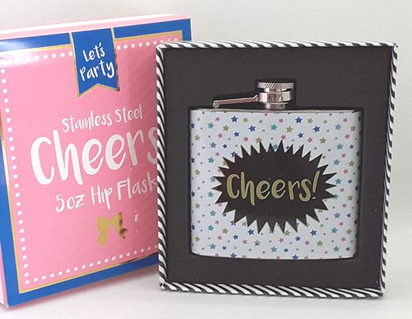 Cheers!' 5oz Hip Flask