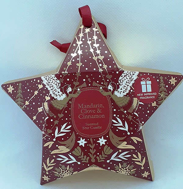 M&S Scented Star Candle