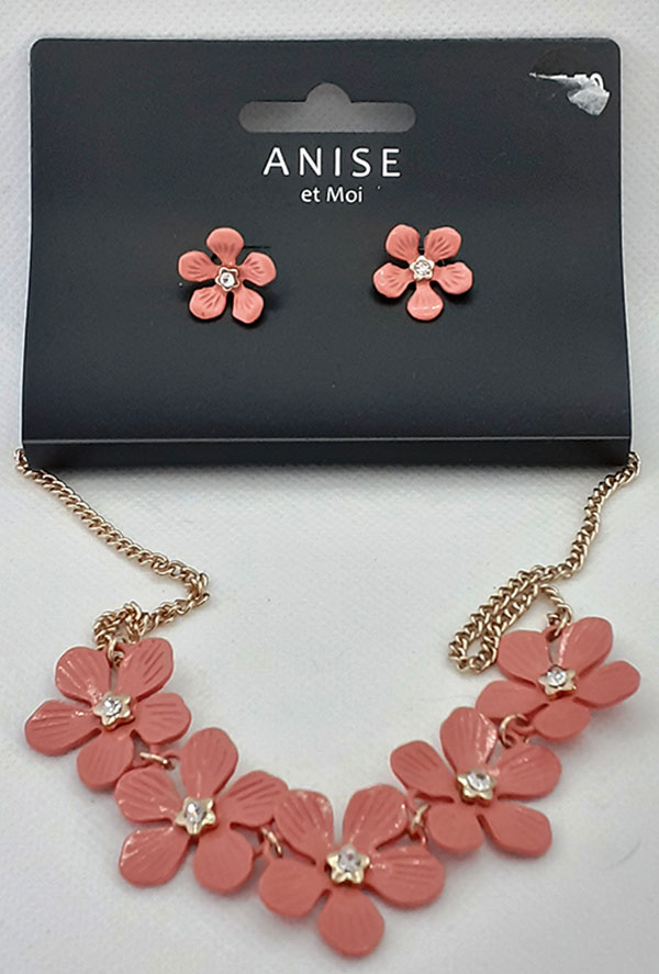 Pretty Floral Necklace & Earrings