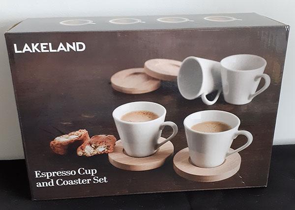 Espresso 4 Cup & Coaster Set