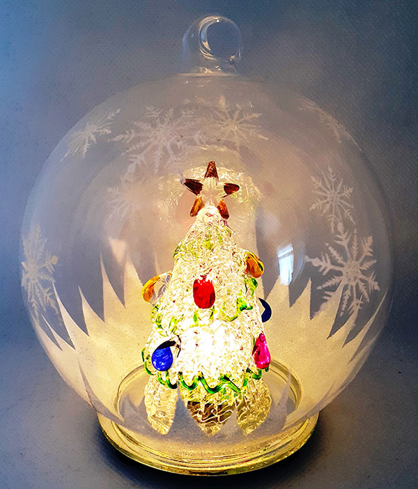 Light up Christmas Baubles