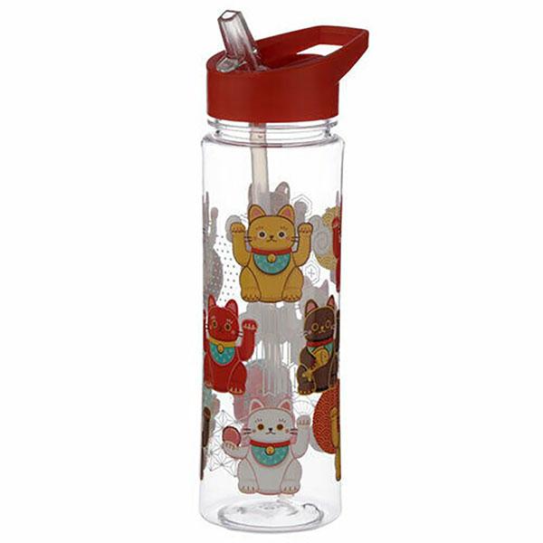 Maneki Neko Lucky Cat Reusable Water Bottle