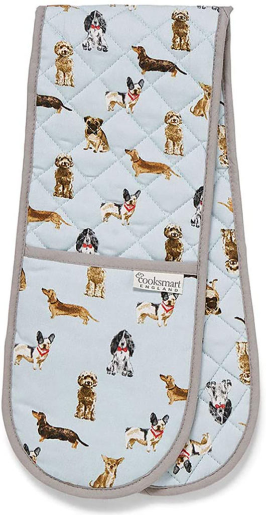 Double Oven Glove Curious Dogs