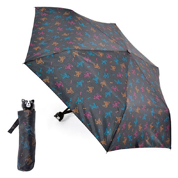 Ladies Compact Dog Design Umbrella